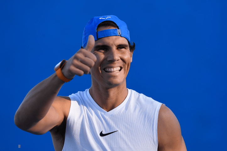 Rafael Nadal photo first practice in Brisbane Australia (2)