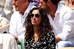 PARIS, FRANCE - JUNE 09: Xisca Perello, Fiancé of Rafael Nadal of Spain watches on during his mens singles final against Dominic Thiem of Austria during Day fifteen of the 2019 French Open at Roland Garros on June 09, 2019 in Paris, France. (Photo by Clive Brunskill/Getty Images)
