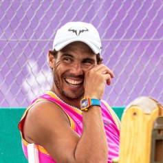 Spanish tennis player Rafael Nadal reacts during a training session at the Country Club in Santa Posa, Mallorca, Spain, 21 June 2019. Nadal prepares for the upcoming Wimbledon Championships. EPA-EFE/, Image: 450408837, License: Rights-managed, Restrictions: , Model Release: no, Credit line: Profimedia, TEMP EPA