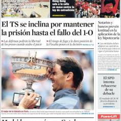 Rafael Nadal's Roland Garros Victory On Newspaper Front Pages (10)