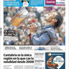 Rafael Nadal's Roland Garros Victory On Newspaper Front Pages (16)