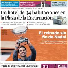 Rafael Nadal's Roland Garros Victory On Newspaper Front Pages (28)
