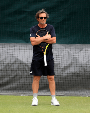 Fransico Roig on day eight of the Wimbledon Championships at the All England Lawn Tennis and Croquet Club, Wimbledon. (Photo by Mike Egerton/PA Images via Getty Images)