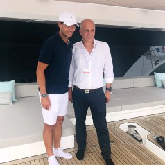 Rafael Nadal and Francis Lapp during Cannes Yachting Festival 2018