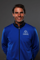GENEVA, SWITZERLAND - SEPTEMBER 19: Rafael Nadal of Team Europe poses for a portrait ahead of the Laver Cup 2019 at Palexpo on September 19, 2019 in Geneva, Switzerland. The Laver Cup will see six players from the rest of the World competing against their counterparts from Europe. Team World is captained by John McEnroe and Team Europe is captained by Bjorn Borg. The tournament runs from September 20-22. (Photo by Clive Brunskill/Getty Images for Laver Cup)