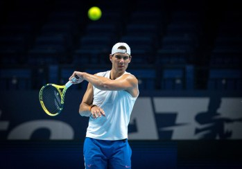Rafa NADAL of Spain during practice at the Nitto ATP, Tennis Herren Finals Tennis London MEDIA DAY at the O2, London, England on 8 November 2019. PUBLICATIONxNOTxINxUK Copyright: xAndyxRowlandx PMI-3189-0029