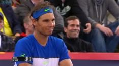 Rafael Nadal in action at Hamburg Open vs Jiri Vesely 2015