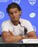 Spanish tennis player Rafael Nadal talks to a press conference during the first round of the WTA Tour Masters 1000 of Cincinnati at the Lindner Tennis Center of Mason, Ohio, on 17 August 2015. EFE/ Mark Lyons