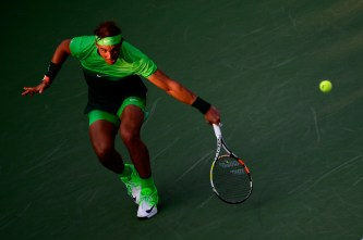 Rafael Nadal during the match against Diego Schwartzman in the second round of US Open. - Clive Brunskill/Getty Images