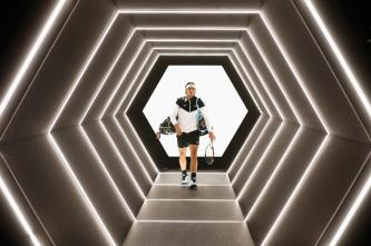 PARIS, FRANCE - NOVEMBER 05: Rafael Nadal of Spain walks out to play his match against Kevin Anderson of South Africa during Day 4 of the BNP Paribas Masters held at AccorHotels Arena on November 5, 2015 in Paris, France. (Photo by Dean Mouhtaropoulos/Getty Images)