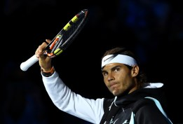 Rafael Nadal of Spain walks out ahead of his men's singles match against Andy Murray of Great Britain during day four of the Barclays ATP World Tour Finals at the O2 Arena on November 18, 2015 in London, England. (Photo by Clive Brunskill/Getty Images)