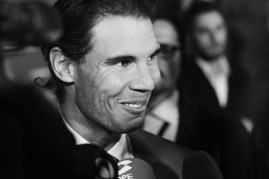 Spanish tennis player Rafael Nadal is presented as the new Ambassador of Tommy Hilfiger at the Cibeles Palace on December 1, 2015 in Madrid, Spain. (Nov. 30, 2015 - Source: Carlos Alvarez/Getty Images Europe)