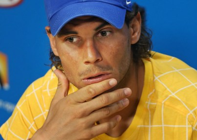 Rafael Nadal of Spain speaks during a press conference, ahead of the Australian Open tennis championships in Melbourne, Australia, Saturday, Jan. 16, 2016.(AP Photo/Rick Rycroft)