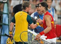 Rafael Nadal says goodbye to Lleyton Hewitt