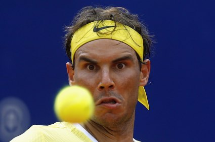 Spain's Rafael Nadal plays a shot during his tennis match against Austria's Dominic Thiem at the ATP Argentina Open in Buenos Aires, February 13, 2016. REUTERS/Marcos Brindicci