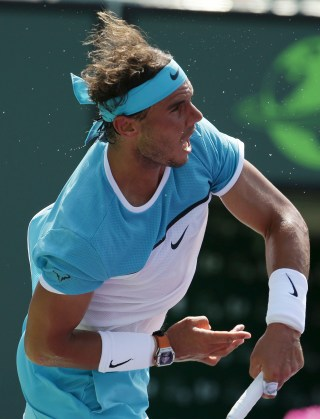Rafael Nadal, of Spain, serves to Damir Dzumhur during their match at the Miami Open tennis tournament, Saturday, March 26, 2016, in Key Biscayne, Fla. (AP Photo/Lynne Sladkyhttp://uploaded.net/file/7ppbusl9/documentary.su-Hunting.Hitler.Series.1.1of8.The.Hunt.Begins.720p.HDTV.x264.AAC.MVG.rar