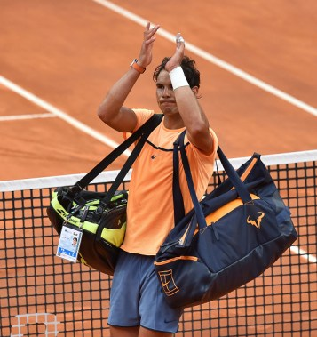 ROME, ITALY - MAY 13: Rafael Nadal of Spain after the match during day six of the The Internazionali BNL d'Italia 2016 on May 13, 2016 in Rome, Italy. (Photo by Giuseppe Bellini/Getty Images)