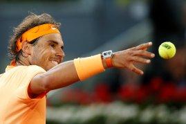 Tennis - Madrid Open - Rafael Nadal of Spain v Sam Querrey of USA - Madrid, Spain - 5/5/16 Nadal celebrates after winning the match. REUTERS/Juan Medina