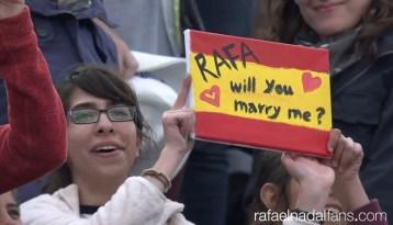 Will you marry me Rafa Nadal