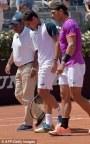 Rafael Nadal advances in Rome as Nicolas Almagro quits (1)