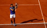 Rafael Nadal of Spain celebrates after winning the second round match against Robin Haase of The Netherlands on day four of the 2017 French Open at Roland Garros on May 31, 2017 in Paris, France. (May 30, 2017 - Source: Adam Pretty/Getty Images Europe)