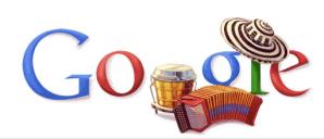Festival vallenato en página principal de Google