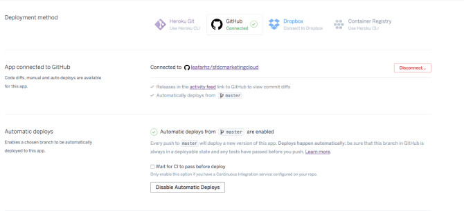 Salesforce Marketing Cloud API Heroku Integration - Rafa H
