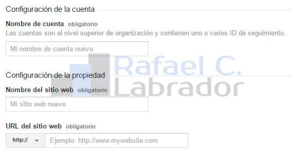 Configurar Propiedad Analytics en WordPress