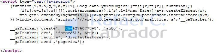 Código Asíncrono ID Universal Google Analytics