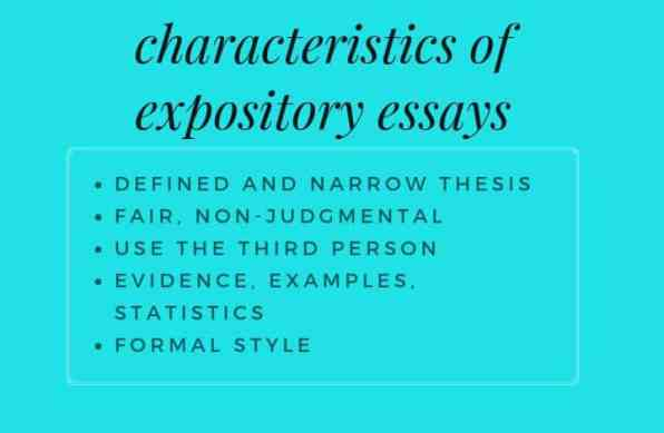 characteristics of expository essays