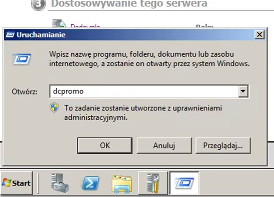 Instalacja kontrolera domeny