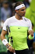 Rafael Nadal of Spain reacts during his Qatar Open men's single tennis final match against Novak Djokovic of Serbia in Doha, Qatar, January 9, 2016. REUTERS/Ibraheem Al Omari