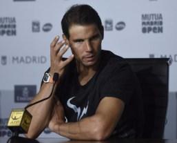 Rafa at the press conference