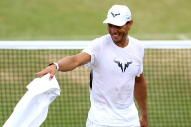spains-rafael-nadal-during-a-training-session-on-day-seven-of-the-picture-id811223448