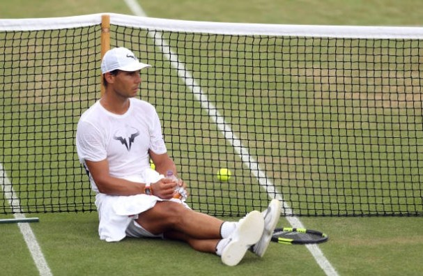spains-rafael-nadal-during-a-training-session-on-day-seven-of-the-picture-id811223528