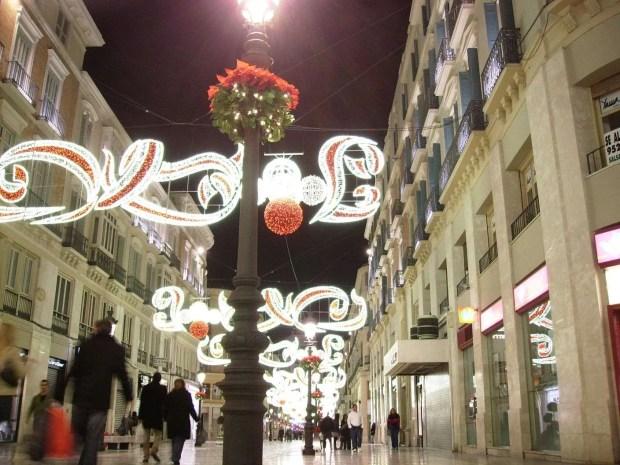 Vivere a Malaga: Addobbi natalizi in Calle Larios