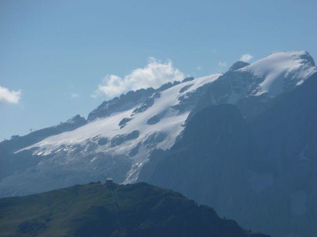 Vacanze in Val Gardena: Vista della Marmolada dal Passo Sella