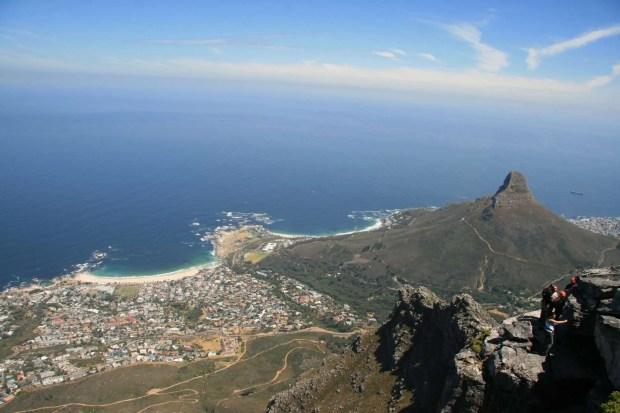 Signal Hill visto dalla Table Mountain - Cape Town