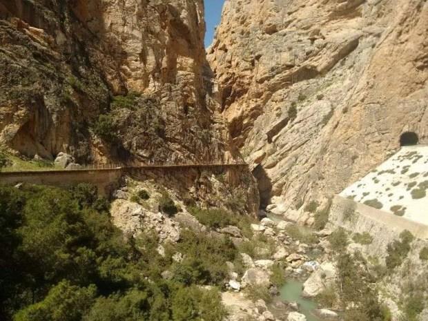 Caminito del Rey - L'uscita dal primo tratto del percorso