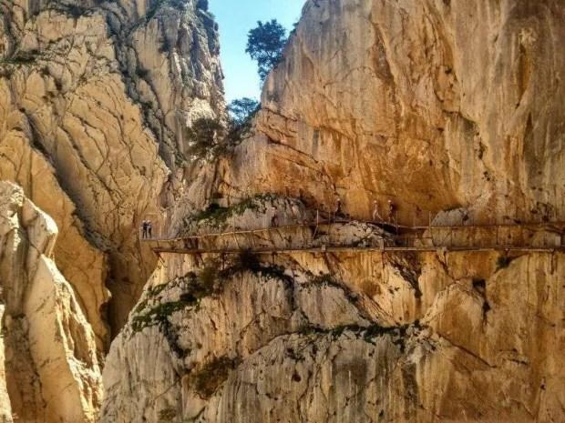 Caminito del Rey - Il percorso lungo la parete