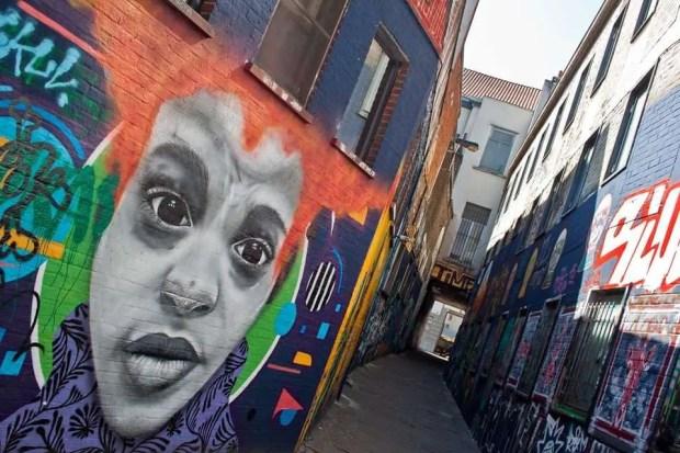 Strada dei graffiti a Gand