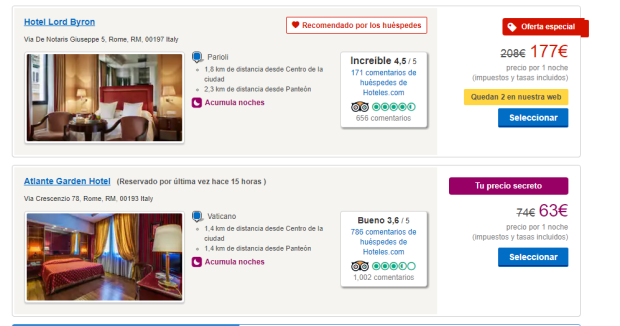 Hotels.com Rewards: le offerte segrete