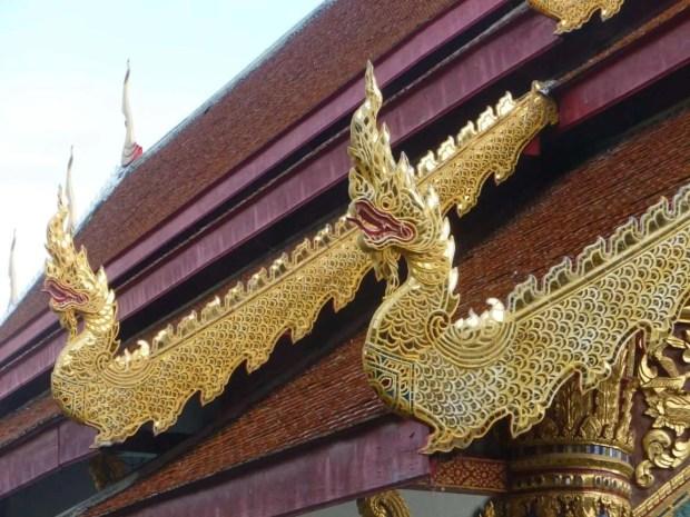 Dettaglio di un tempio di Chang Mai