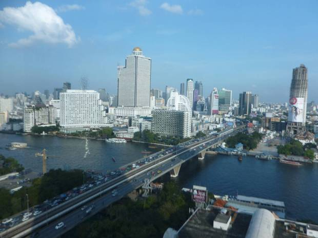 Vista dal salotto del mio appartamento a Bangkok