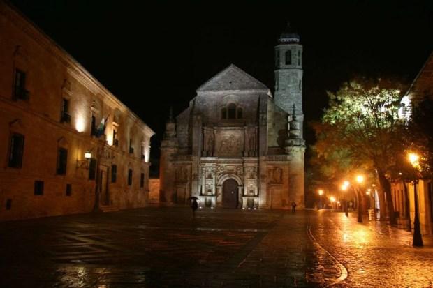 Ubeda - Plaza Vazquez de la Molina di notte
