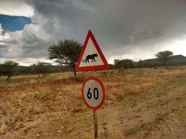 I cartelli stradali della Namibia