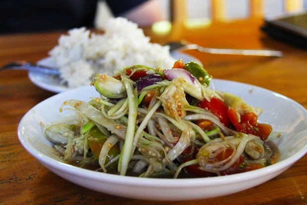 Cosa mangiare a Luang Prabang: verdure saltate con riso