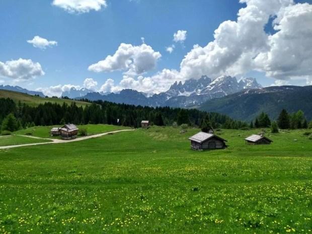Al Rifugio Fuciade: la vista sulle Pale di San Martino