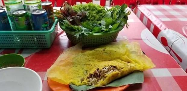 Un'altra delizia della cucina vietnamita: il Banh Xeo