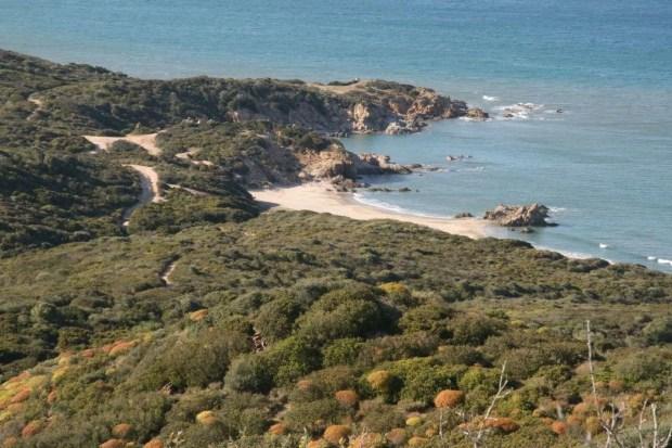 Un tratto di costa tra Villasimius e Capo Ferrato